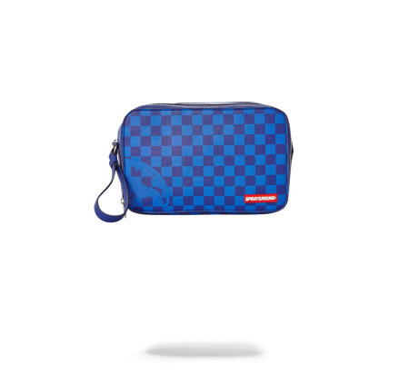 BLUE CHECKERED SHARK TOILETRY